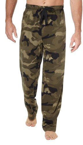 Izod Mens Camo Print Sleepwear Pants Green multi Lg