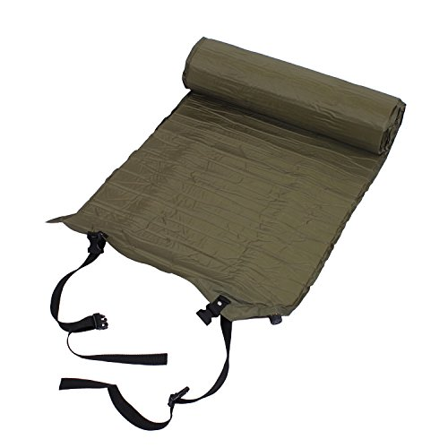 Rothco Self Inflating Air Mat with Straps, Olive Drab