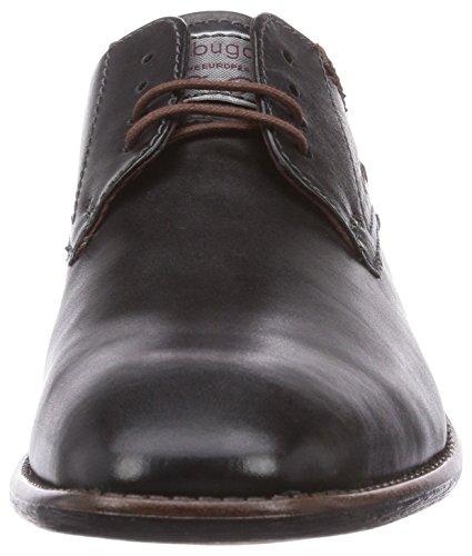 bugatti U8206PR1 - zapatos con cordones de cuero hombre negro - negro