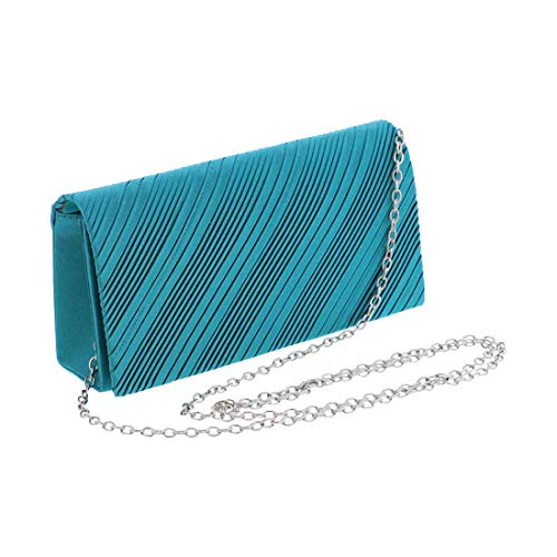 Cocktail Teal Satin Satin Evening Evening Bag q7wT7xtZYX