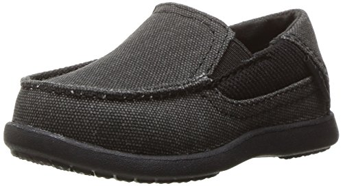- crocs Boys' Santa Cruz II PS Loafer, Black/Black, 6 M US Toddler