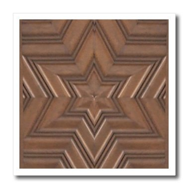 3dRose Magen David stars - photo print of wood carving - brown wooden Jew symbol - Judaism - Jewish gifts - Iron On Heat Transfer, 8 by 8-inch, For White Material (ht_155683_1) -