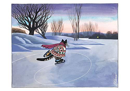 B. Kliban: Cat Skating Holiday Cards
