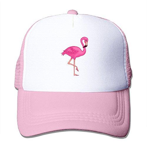 Pink Flamingo Trucker Hat Summer Mesh Cap Modern Urban Style Cap (Urban Cowboy Hats)
