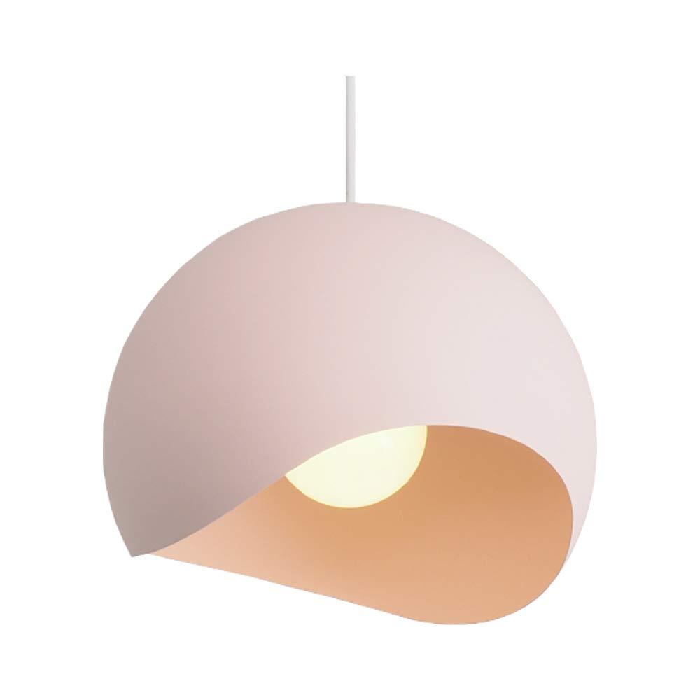Moderne Farbe Topfdeckel Kronleuchter, Iron Art Verstellbare runde Pendelleuchte, Weiß Rosa   Blau Grau   Gelb Grün   Braun Schwarz LED Deckenleuchte (Farbe   Pink)