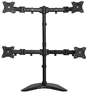 Vivo Quad Monitor Mount Fully Adjustable Desk Free Stand