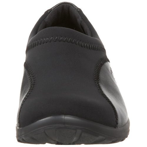 Flexus De Spring Step Mujeres Willow Flat Black Leather / Stretch