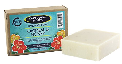 Caribbean Soaps Oatmeal  Honey Handmade Soap – 4.25 oz.