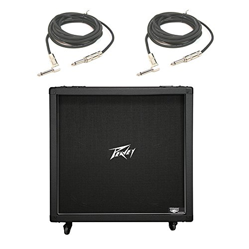 (Peavey 430B 412 Electric Guitar Cab Cabinet 120W Vintage British Sound & Cables (Renewed))