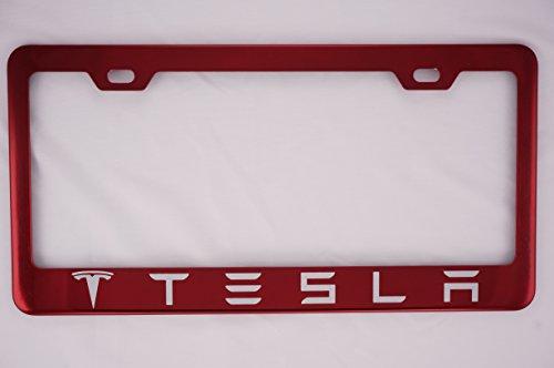 Tesla Red License Plate Frame (Candy License Plate Frame)