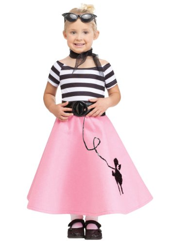 Fun World Costumes Baby Girl's Soda Shop Sweetie Toddler Costume, Pink/White, Small