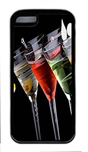 Black Case,Fashion Cool Art Drinks Protective Soft TPU Back Case Cover for iphone 5C (Black)