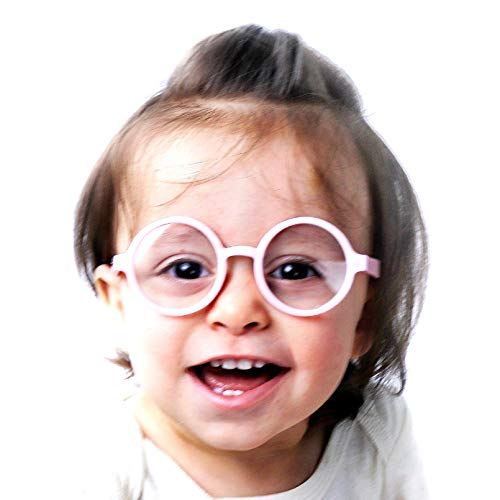 KD01 Baby Infants Toddlers (0~24 months old) Round Clear lens Glasses (Baby Pink-Clear lens, UV400) ()