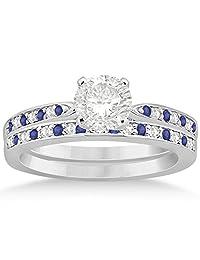 Tanzanite and Diamond Engagement Ring Set Palladium (0.55ct) (No center stone included)