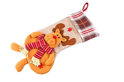 (Christmas Decorations Children's Large Gift Bag Candy Socks Christmas Socks Pendants Christmas Eve Gift Home Decorations 3 Types (Type C))