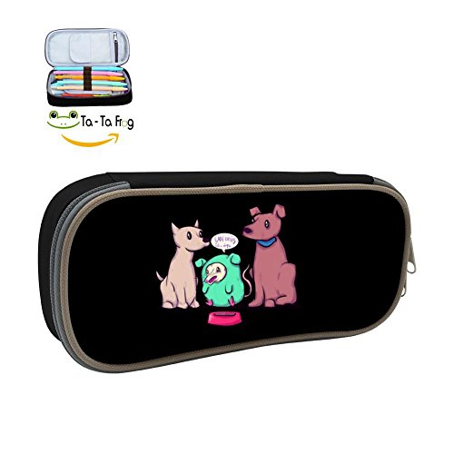 Fellow Dogs Pencil Case Pen Bag Makeup Pouch Durable Students Print Boys Stationery with Double Zipper