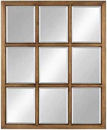 Kate and Laurel Hogan 9 Windowpane Wood Wall Mirror
