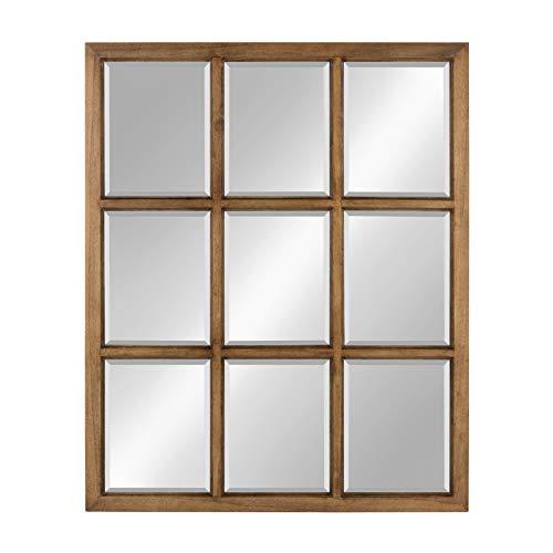 Kate and Laurel Hogan 9 Windowpane Wood Wall Mirror, 26x32, -