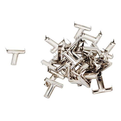 Prettyia 30Pcs Alphabet Letter Claw Rivets Studs 15mm for Leather Crafts Jewellery Findings Clothing Shoes Decor - T ()