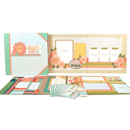 August Layout Kit by Youngevity