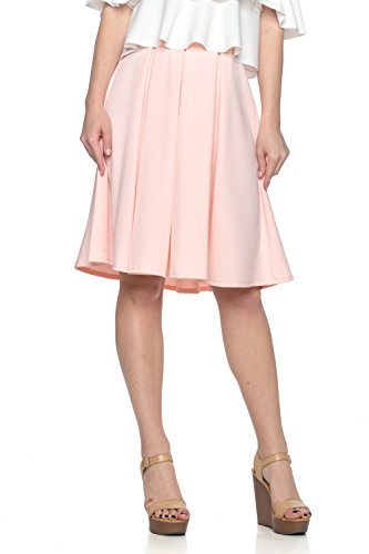 Women's Junior Plus J2 Love Scuba Crepe Pleated Skirt, 1X, (Crepe Pleated Skirt)