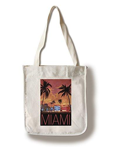 South Beach Miami, Florida (100% Cotton Tote Bag - - Miami Shopping In South Beach