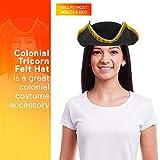 Skeleteen Colonial Black Tricorn Hat