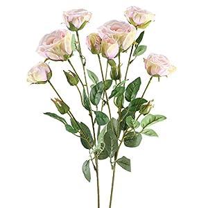 GTIDEA 2PCS Artificial Rose Branches 26