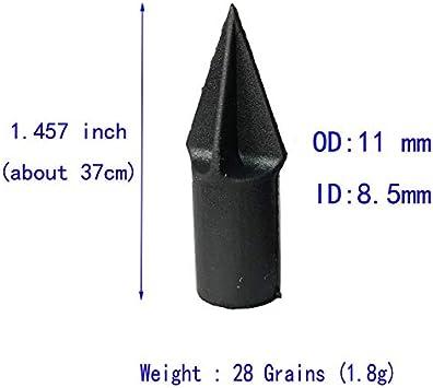 SHI-Y-M-BZ Punta di tiro con LArco Punta di Freccia di Gomma Punta di tiro Pratica Punto di Campo ID 8.5mm 24pcs per Legno di bamb/ù di Legno Arrow
