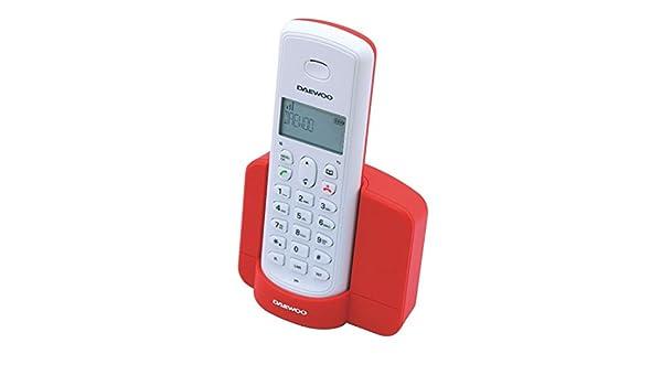 Daewoo electronics - Telefono inalambrico dect daewoo dtd-1350 rojo: Amazon.es: Electrónica