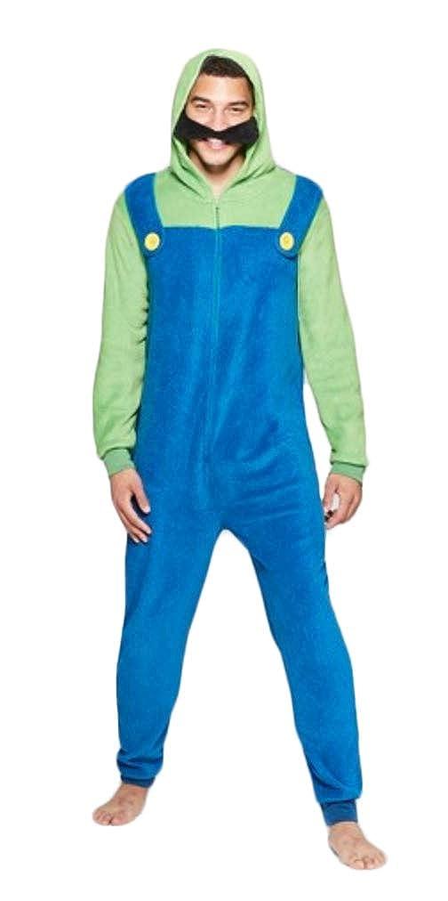 Amazon.com  Super Mario Men s Faux Fur Licensed Sleepwear Adult Costume  Union Suit Pajama  Clothing 45043f92c