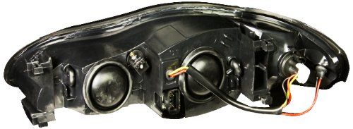 Anzo USA 121165 Chevrolet Monte Carlo Black With Amber Reflectors Headlight Assembly Sold in Pairs