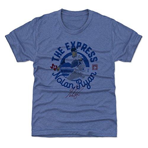500 LEVEL Texas Baseball Youth Shirt - Kids Large (10-12Y) Tri Royal - Nolan Ryan Circle B