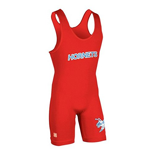 High Cut Lycra Singlet - Brute E-Lycra High-Cut Wrestling Singlet - SIZE: Medium, COLOR: Red