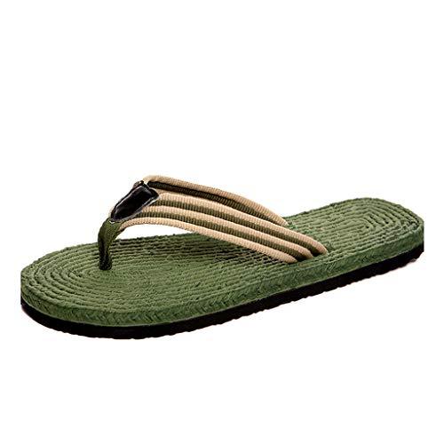 Moda Verano Slip Al Aire Libre Estudiante Zapatillas Hombre para Verdes 44 De HUYP Sandalias De Chanclas De Playa Casual Tamaño YOpCpxIRqw