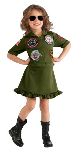 Top Gun Costume Womens Flight Dress (Top Gun, US Navy Flight Dress Costume, Small)