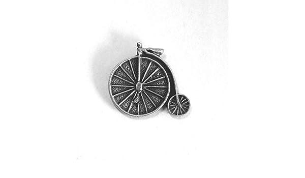Bicicleta Antigua bicicleta Pin Chapa en inglés Pewter, Hecho a ...