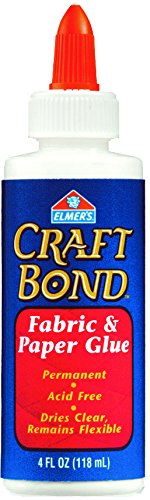 Elmer's Craft Bond Fabric and Paper Glue, 4-Ounce, Clear