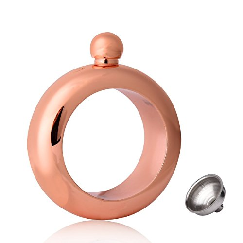 Bracelet Flask Stainless Steel Wine Bangle with Funnel for Women Fashion Party Supplies (Unicorn Rose Gold)