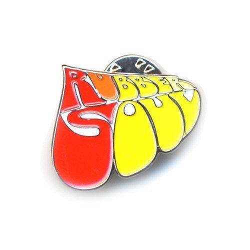 Metal Lapel Pin - The Beatles - Rubber Soul Text