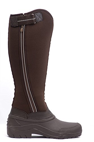 Boots Neoprene Sizes All Riding Hall Gel Chocolate Winter Ladies Harry ntx7YwqUx