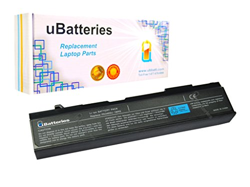 UBatteries 48Whr Laptop Battery Works with Toshiba Satellite PA3457U-1BRS PA3465U-1BRS PABAS067 PABAS069 PABASO67 PABASO69-6 Cell, 4400mAh