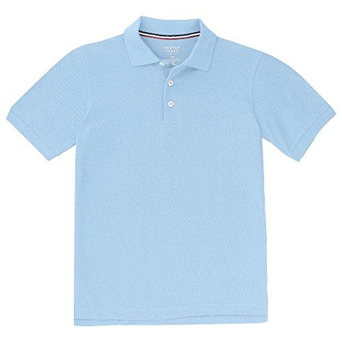 French Toast Boys Little Short Sleeve Pique Polo Shirt, Light Blue, S (6/7)