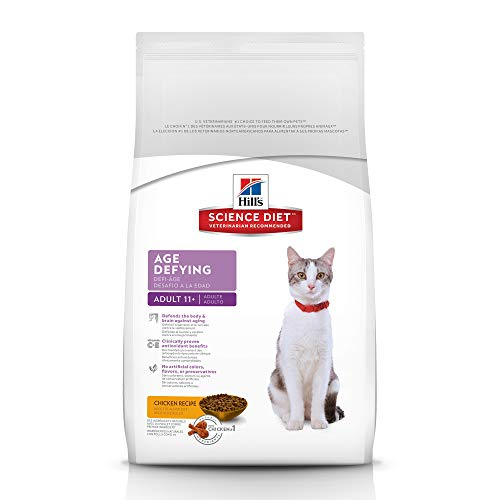 Hill's Science Diet Dry Cat Food, Adult 11+, Chicken Recipe, 15.5 lb bag