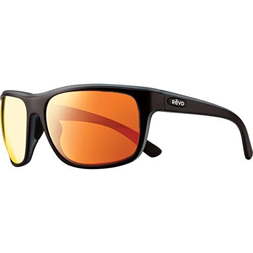 Revo Remus RE 1023 19 OG Polarized Rectangular Sunglasses, Matte Black/Grey/Solar Orange, 62 mm
