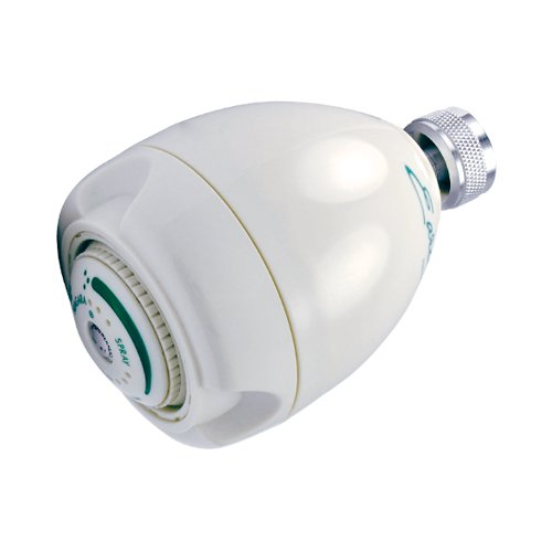 Niagara Conservation N2912 Earth Spa 3-Spray 1.25 GPM White Fixed Showerhead, (Gpm Industries Spa)