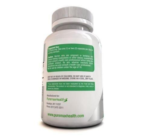 Puremax Health Probiotics Digestive HealthSupport Dietary Supplement 60 capsules 2 bott.