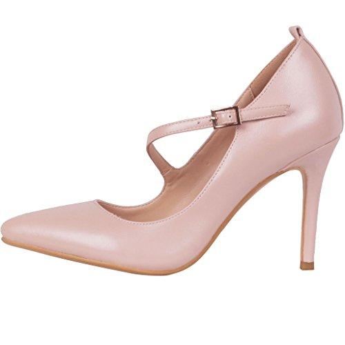 Calaier Kvinna Caalso Sexiga Damer Designer Kväll Lyx Bröllopsfester Hög Klack Stilett Strappy Skor Spetsig Tå 8.5cm Stilett Spänne Pumpar Rosa