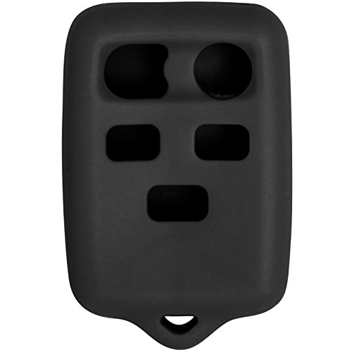 Keyless2Go New Silicone Cover Protective Case for 5 Button Remote Key Fob with FCC CWTWB1U511 - Black ()