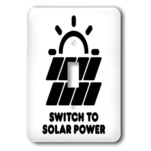 3dRose Carsten Reisinger - Illustrations - Switch to solar power electric power from the sun alternative energy - Light Switch Covers - single toggle switch (lsp_294721_1) by 3dRose